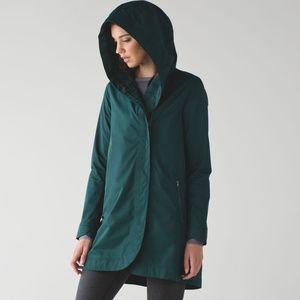 Lululemon Savasana Waterproof Jacket II Deep Green